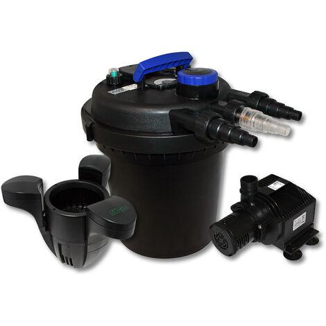 Kit de filtration à pression bio 6000l Stérilisateur UVC 11W Pompe de bassin Ecumeur