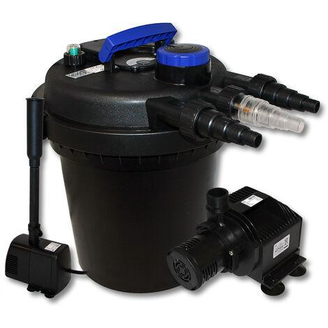 Kit de filtration à pression bio 6000l Stérilisateur UVC 11W Pompe de bassin Pompe de fontaine