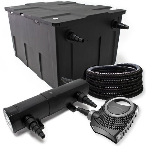 Kit de filtration avec Bio Filtre 60000l, 36W UV Stérilisateur et 80W Pompe