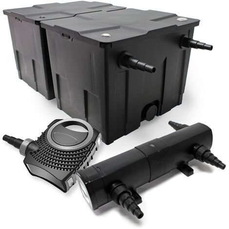 kit de filtration bassin bio filtre 60000l 80w pompe co. Black Bedroom Furniture Sets. Home Design Ideas