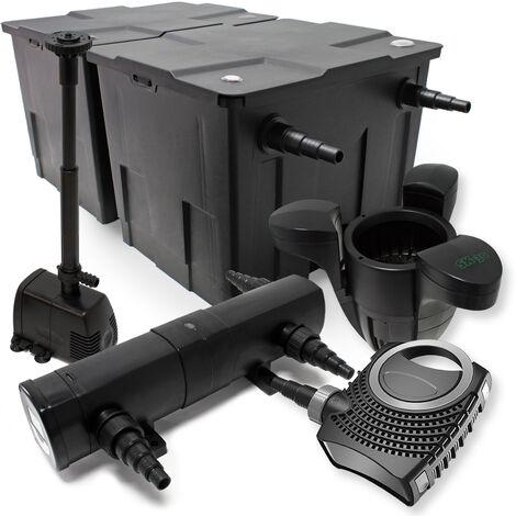 kit de filtration bassin bio filtre 60000l 80w pompe. Black Bedroom Furniture Sets. Home Design Ideas