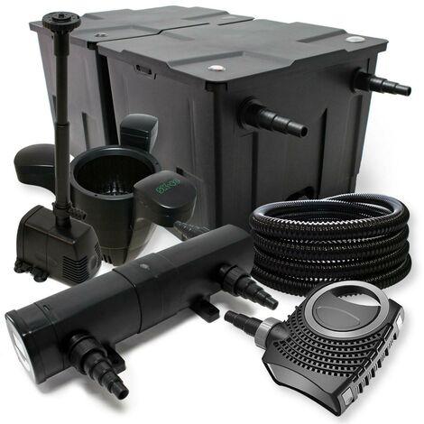 Kit de filtration biologique 18w bassin 90000 L pompe fontaine et skimmer