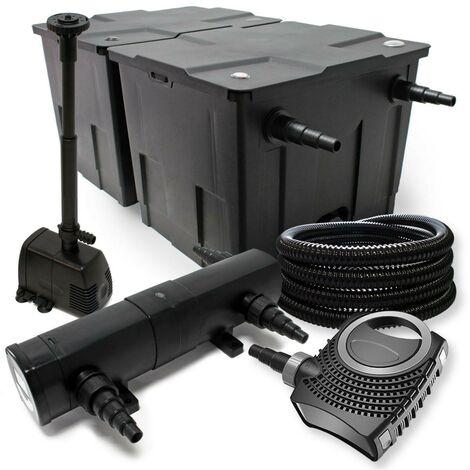 Kit de filtration biologique 24w bassin 60000 L max + tuyau et pompe fontaine