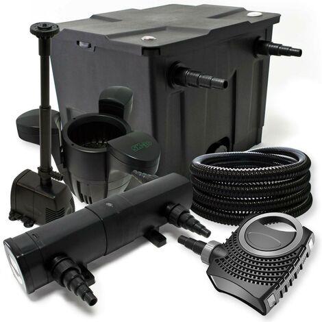 Kit de filtration biologique uvc 18w bassin 12000 L + pompe fontaine et skimmer