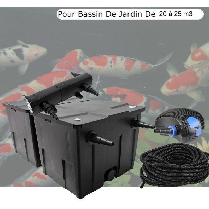 Le Poisson Qui Jardine - Kit De Filtration Complet Avec UV 36W Pour Bassin De Jardin De 20 à 25m3