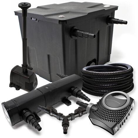 Kit de filtration de bassin 12000l 24W Stérilisateur NEO8000 70W Pompe 25m Tuyau Fontaine