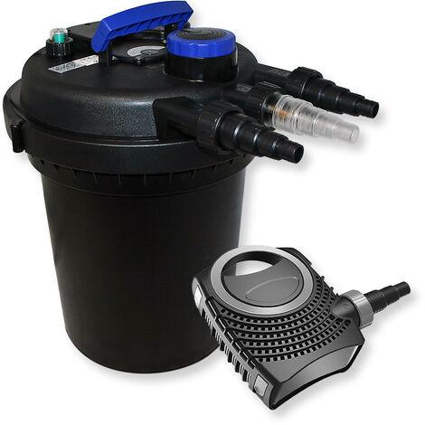 Kit de Filtration de Bassin à pression 6000l Stérilisateur UVC 11W 70W Pompe éco