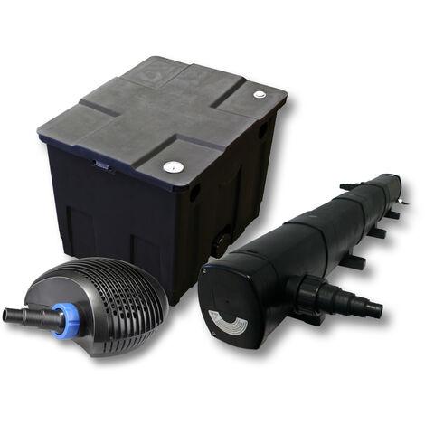Kit de filtration de bassin pour 12000l avec 72W Stérilisateur et CTF éco Pompe avec 40W