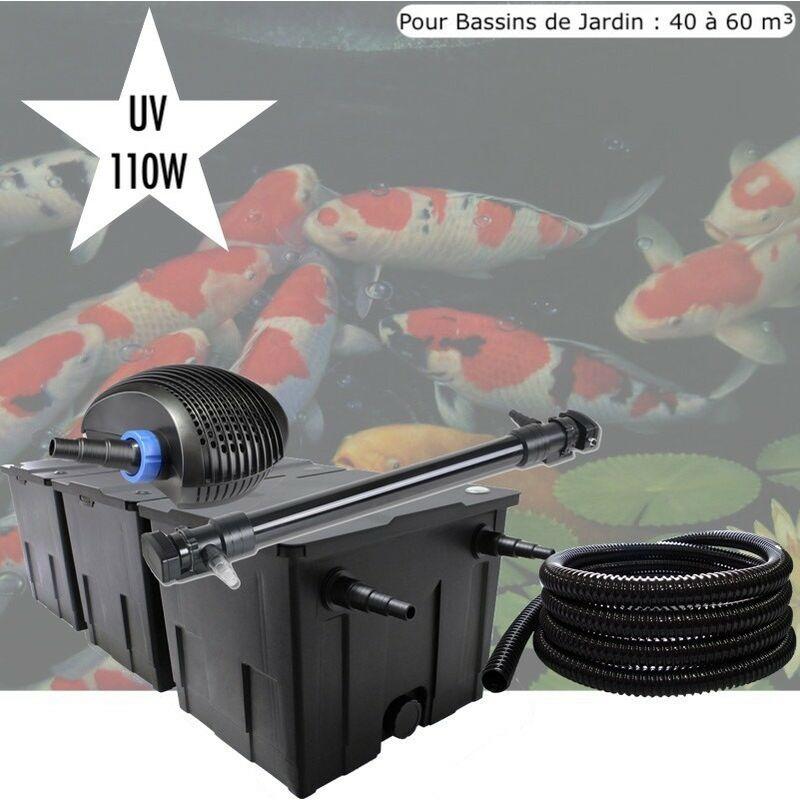 Le Poisson Qui Jardine - Kit De Filtration, UV 110 W , Pour Bassin de Jardin : 40 à 60 m³