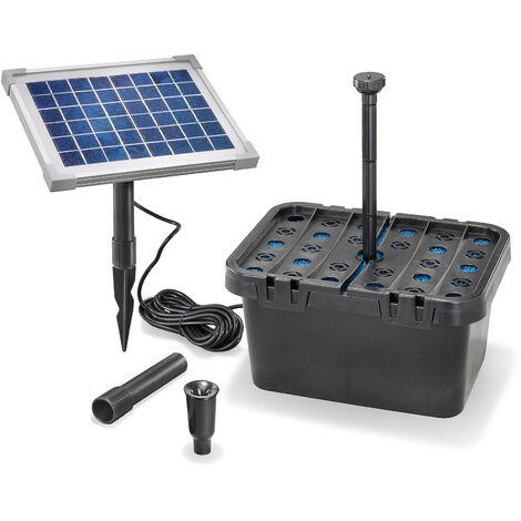Kit de filtres de bassin solaire 5/470 Pompe solaire kit de pompe de bassin de jardin esotec 101065