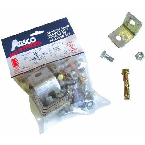 Kit de fixation au sol pour abri ABSCO