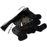 Kit de fixation Brise-vue - Lot de 10 kits (26 pastilles + 4m de fil par kit) Noir Lot de 10 kits