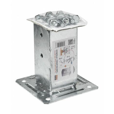 Kit de fixation complet pour poteau carré de 70mm