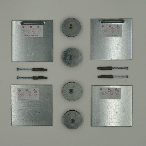 Kit de fixation murale aimanté pour miroir, Dibond, signalétique - Charge maxi 15 kg - SAFEMAX