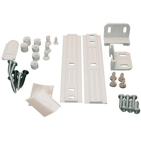 KIT DE FIXATION PORTE FRIGO INTÉGRABLE + SYSTÈME GLISSIÈRE, Réfrigérateur, 481231028208
