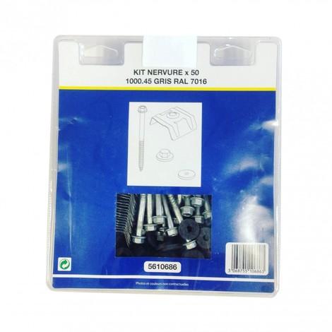 Kit de fixation pour bac acier 1045 (vis L 100 x diam 6 mm)