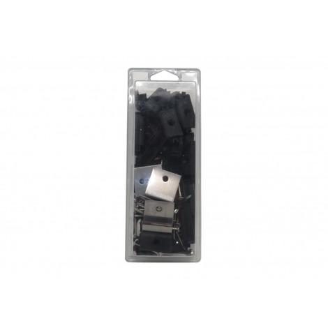 kit de fixation pour lame supra - Coloris - Noir, Surface couverte en m² - 2