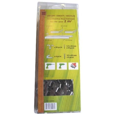 Kit de fixation terrasse bois composite - Coloris - Inox