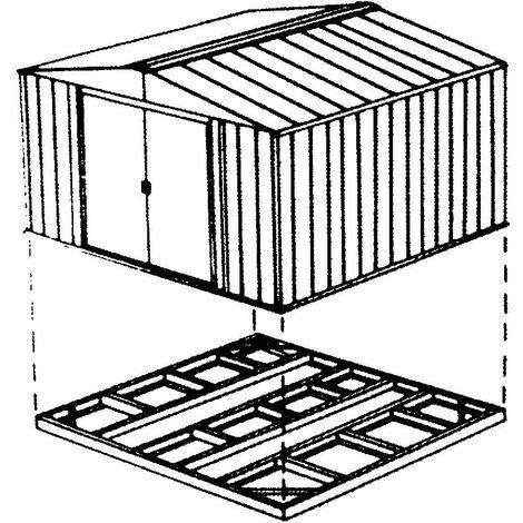Kit de fondation pour abri en métal GH66