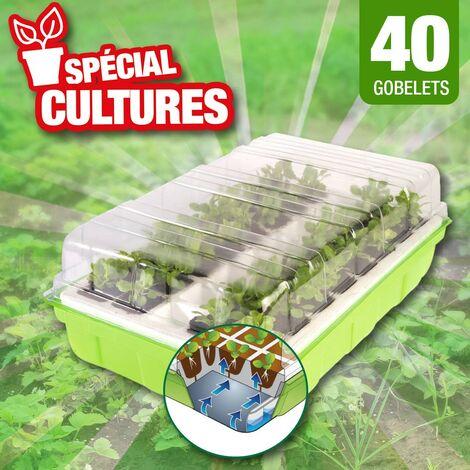 kit de germination 40 godets pour réussir vos semis