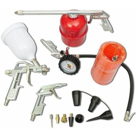 Kit De Herramienta De Aire Pistola De Pulverizacion Para Compresor
