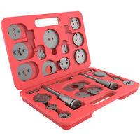 Kit de Herramientas de Reparación de Frenos, Juego de Herramientas de Pinzas de Freno, con estuche roja, 21 Partes, Material: Acero C45