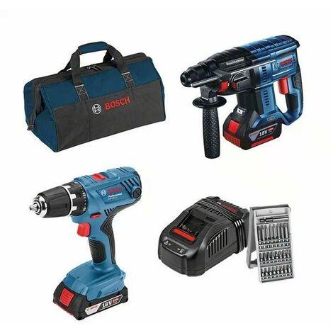 Kit de herramientas GBH18V-21+GSR18-21 (¡con maletín!) - BOSCH