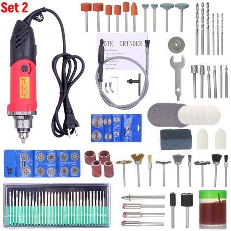 Kit de herramientas rotativas de 220V 240W, con herramienta amoladora angular de eje