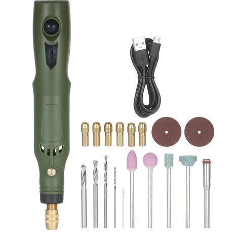 Kit de herramientas rotativas inalambricas KKmoon, amoladora electrica recargable USB de velocidad variable de 15000 RPM