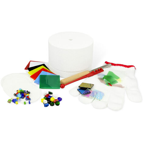 Kit de horno de microondas profesional, conjunto de joyeria de vidrio de fusion de bricolaje