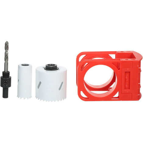 Kit de instalacion de cerraduras con plantilla de guia, para puertas de madera