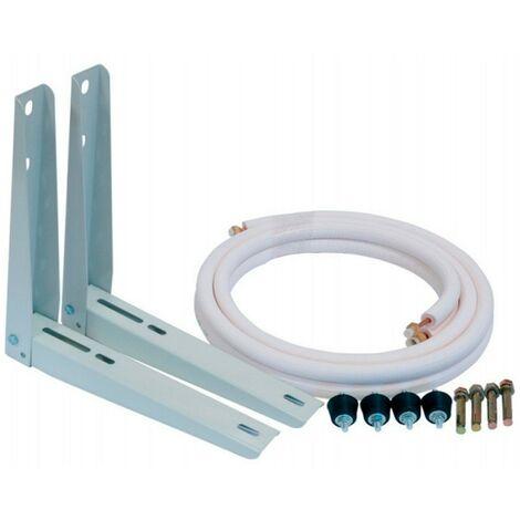 Kit de instalación: Soportes 400 mm+Tubo+Antivibradores+Tacos metálicos fijación a muro 1/4x3/8 (3200W)