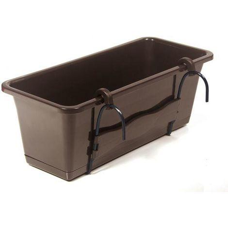 Kit de jardinera Camelia color Chocolate medidas 51x19x17 cms