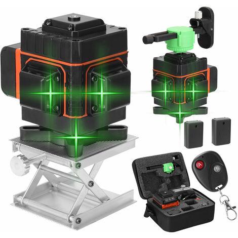 Kit de mesure de niveau KKmoon 3D 12 lignes orange et noir, deux batteries et un chargeur, 220V EU
