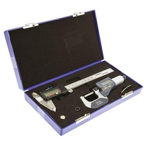 Kit de mesure RS PRO Pied à coulisse numérique, micromètre