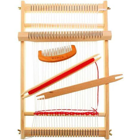 Kit de Métier à Tisser Machine à Tricoter à la Main Bricolage Tissé à la Main Tissage à la Main en Bois de Chaîne de Métier à Tisser pour Débutants et Enfants