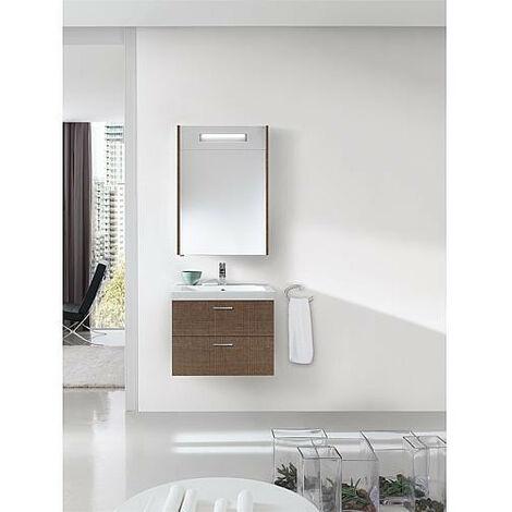Kit de meubles de bain EKRY serie MBK, tranche marron 2 tiroirs