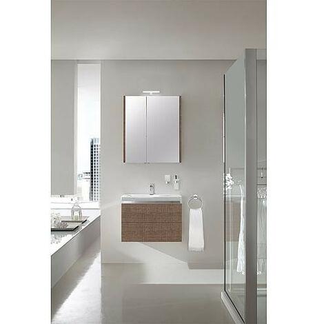 Kit de meubles de bain EOLA tranche marron 700mm 2 tiroirs