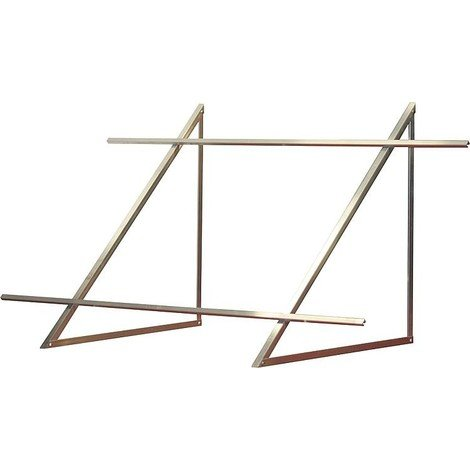 Kit de montage toit terrasse pour 2 capteurs à tubes sous vide