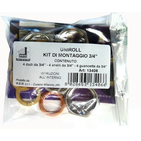 Kit de montage Uniroll 4 connexions 1/2 « femelle