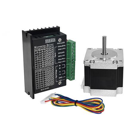 Kit de moteur pas a pas et pilote Aibecy 23HS5628-8mm + TB6600 en boite avec kit d'accessoires pour imprimante 3D a fil conducteur de 30 cm