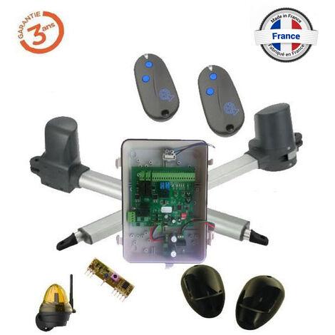 Kit de motorisation à vérins télescopique pour portail battant 5mX500kg (les 2 verins) EA B370