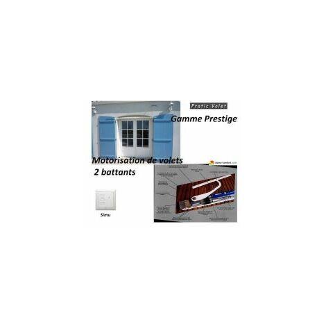 Kit de motorisation radio pour volets 2 battants PRESTIGE RADIO SIMU / Compatible RTS YSLO - PRESTSM2B.