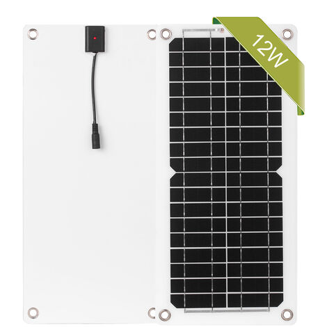 Kit de panel solar de 12 W y 12 V, para Camping Car Boat Marine