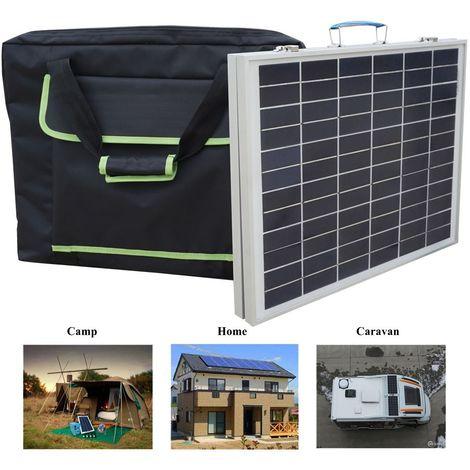 Kit de panneau solaire pliable portable 50W et contrôleur 3A pour batterie 12V