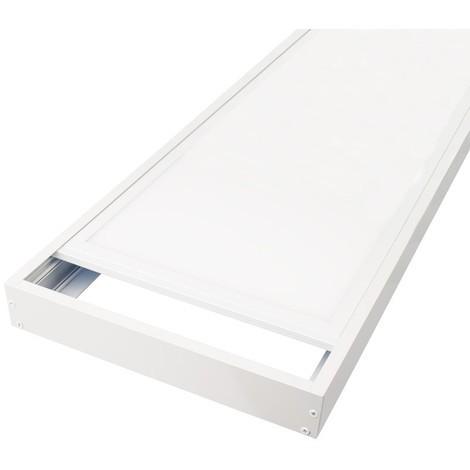 Kit de pose en saillie pour dalles led 1200x300 ALU blanc laqué