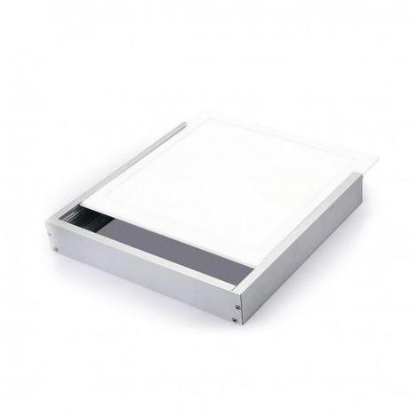 Kit de pose en saillie pour dalles led 600x600 ALU blanc laqué - 133