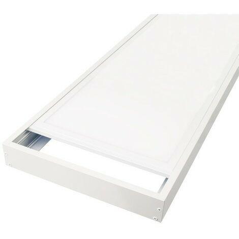 Kit de pose en saillie pour dalles led 600x600 ALU blanc laqué