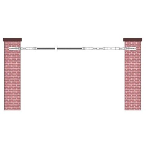 kit de pose inox 316 pour câble inox Ø 4 mm montage entre murs ou poteaux bois