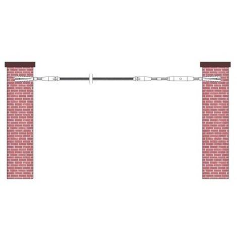 kit de pose inox 316 pour câble inox Ø 4 mm montage orientable entre murs ou poteaux bois